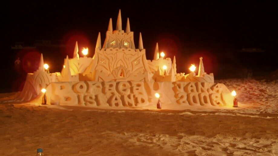 big sand castle