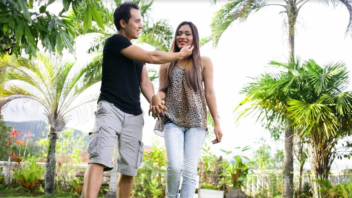 Filipina Ladyboy and boyfriend