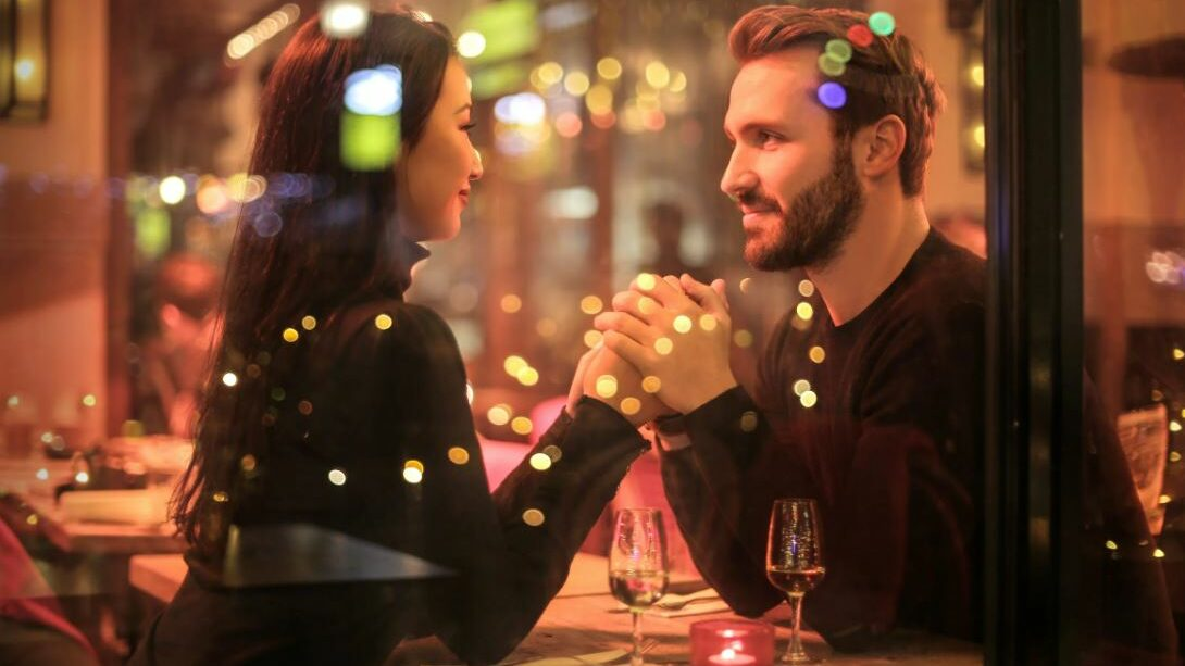 nice couple in a restaurant