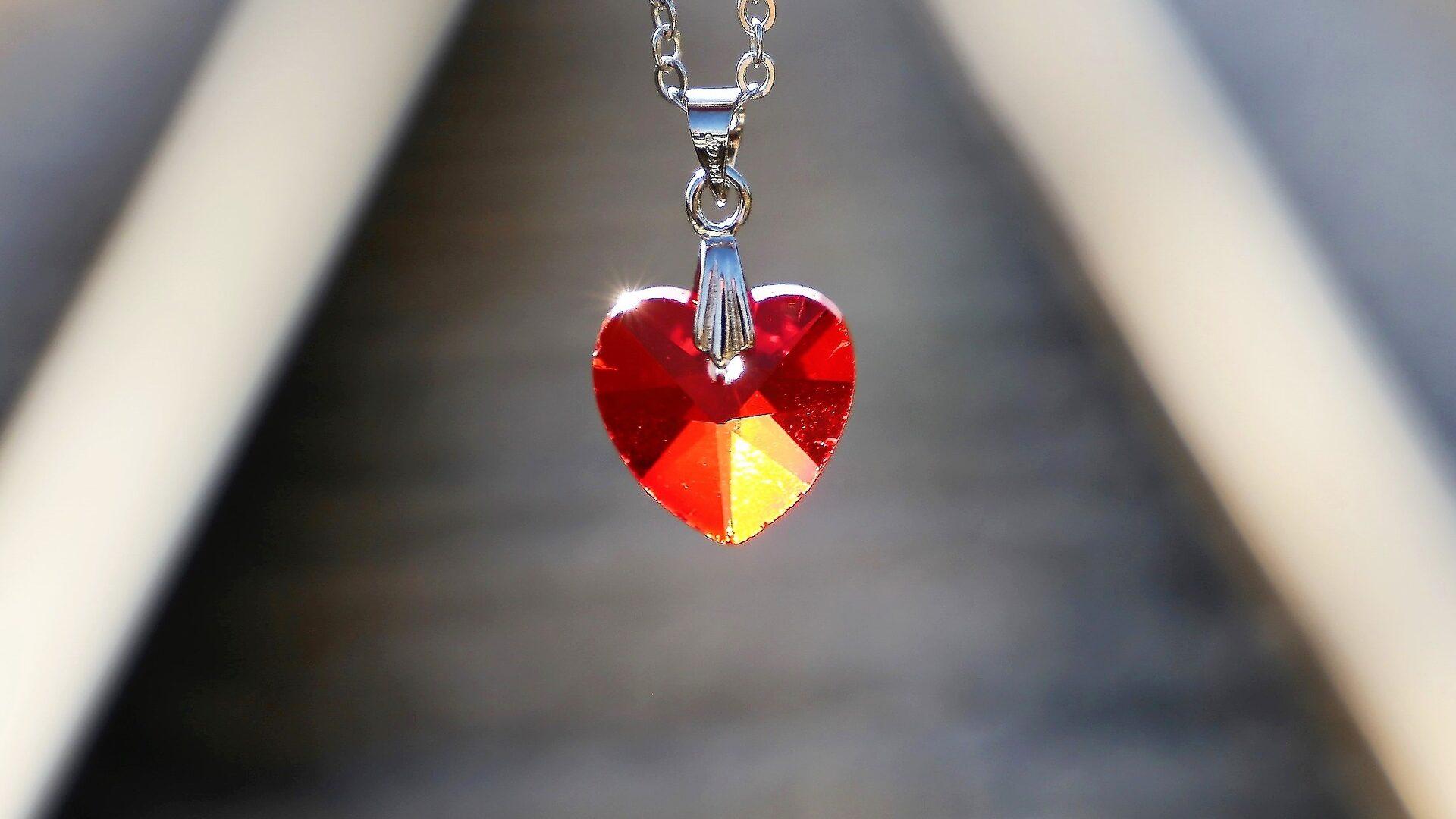 red heart medallion gift
